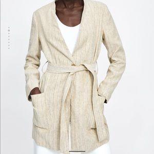 Zara rustic striped coat